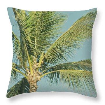 Cocos Nucifera - Niu - Palma - Po'olenalena Beach Maui Hawaii Throw Pillow by Sharon Mau