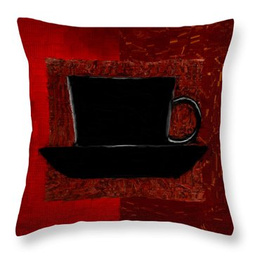 Coffee Passion Throw Pillow by Lourry Legarde