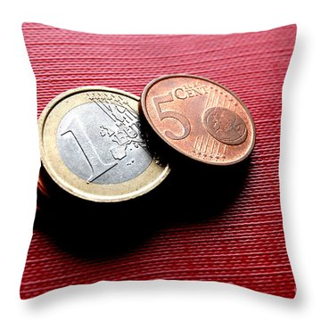 Coins Euro Throw Pillow by Michal Bednarek