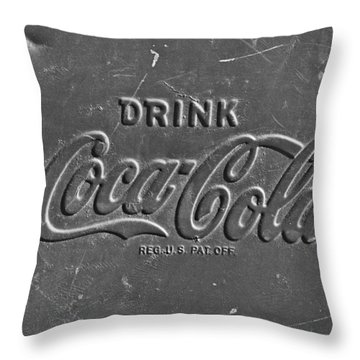 Coke Sign Throw Pillow by Jill Reger