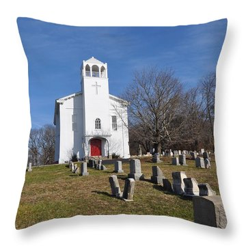 Cold Point Baptist Church Throw Pillow by Bill Cannon