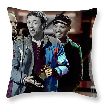 Coldplay Throw Pillow by Marvin Blaine