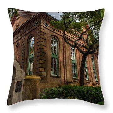 College Of Charleston Campus Throw Pillow