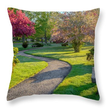 Color Of Spring Throw Pillow