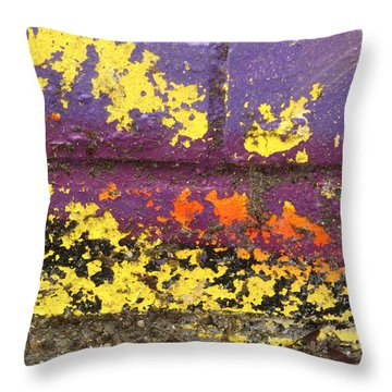 Colorful Wall Throw Pillow by Alfred Ng