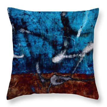 Colorful Walls Number 2 Throw Pillow