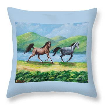 Colt And Mare Throw Pillow