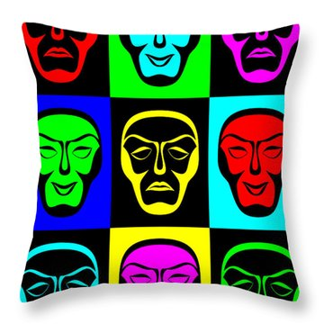 Comedy And Tragedy Throw Pillow by Jane McIlroy