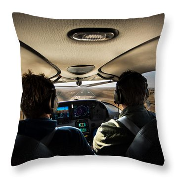 Coming In To Land Throw Pillow by Paul Job