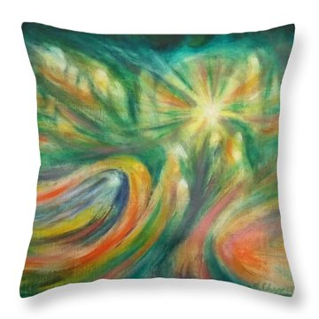 Conception Throw Pillow by Becky Chappell