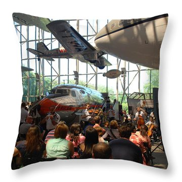 Concert Under The Planes Throw Pillow