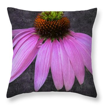 Cone Flower Throw Pillow