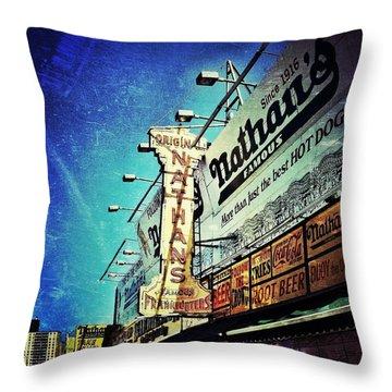 Coney Island Grub Throw Pillow