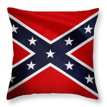 Confederate Flag 5 Throw Pillow