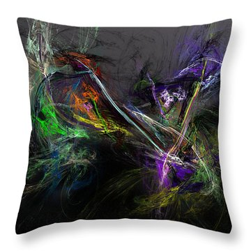 Throw Pillow featuring the digital art Conflict by David Lane