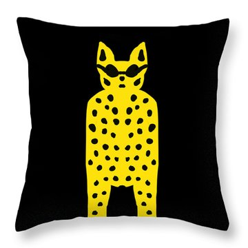 Simply Cool For Cats  Throw Pillow