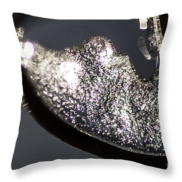 Cool Ice Formation Throw Pillow