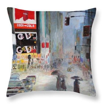 Cool New York Throw Pillow