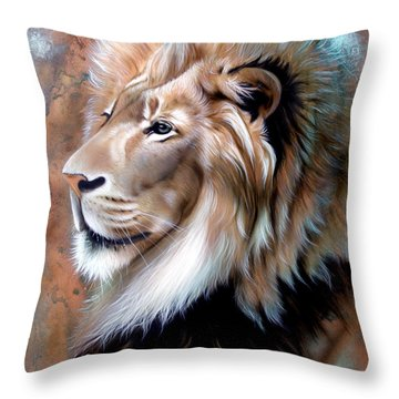 Copper King - Lion Throw Pillow