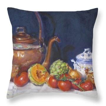Copper Still Life Throw Pillow
