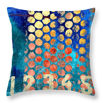 Red Square Photographs Throw Pillows