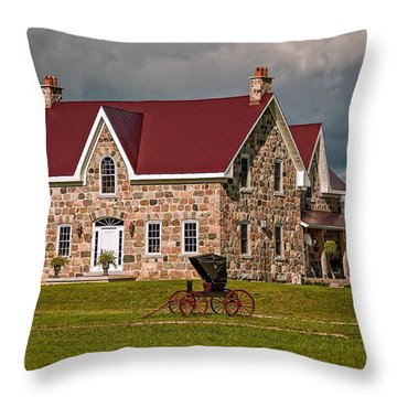 Country Living Throw Pillow by Steve Harrington