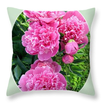 Country Peonies Throw Pillow