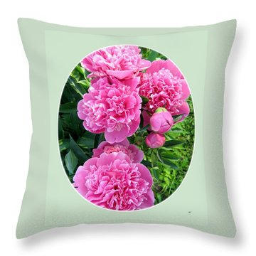 Country Peonies Throw Pillow by Will Borden