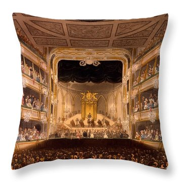 Covent Garden Theater Throw Pillow