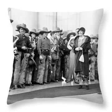 Cowboy Band, 1929 Throw Pillow