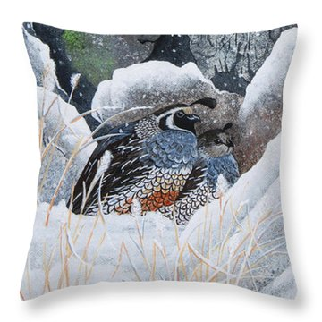 Cozy Couple Throw Pillow by Jennifer Lake