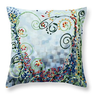 Crazy Love Jazz Throw Pillow by Holly Carmichael