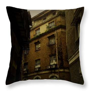 Throw Pillow featuring the photograph Crime Alley by Salman Ravish