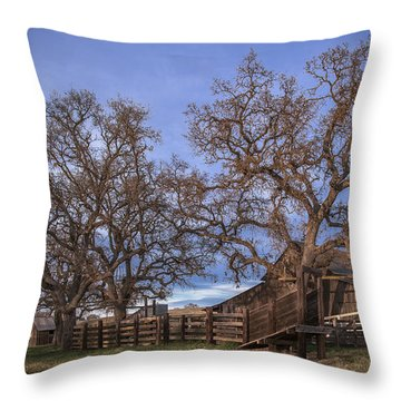 Cripple Creek Barn Throw Pillow