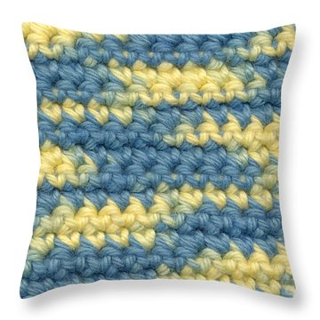 Crochet Made With Variegated Yarn Throw Pillow by Kerstin Ivarsson