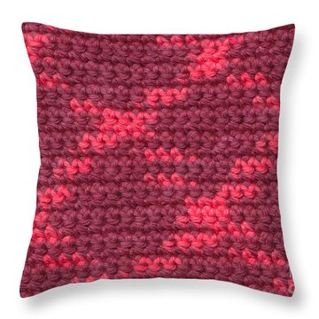 Crochet With Variegated Yarn Throw Pillow by Kerstin Ivarsson