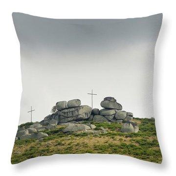 Cross Throw Pillow by Bernard Jaubert
