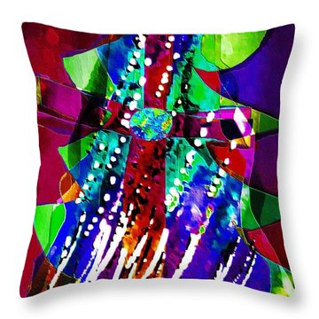 Cross Christmas Tree Throw Pillow