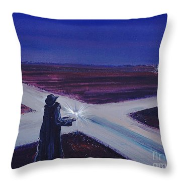 Crossroads Throw Pillow by Lizi Beard-Ward