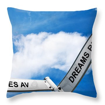 Crossroads Of Hopes And Dreams Throw Pillow