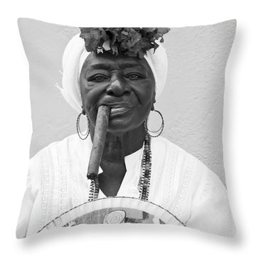 Cuban Lady Throw Pillow