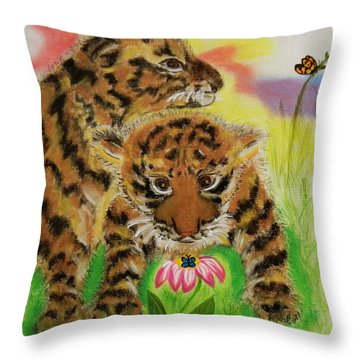 Curiosity Throw Pillow by Celeste Manning