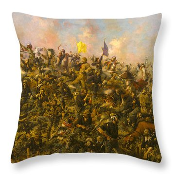 Custers Last Stand Throw Pillow