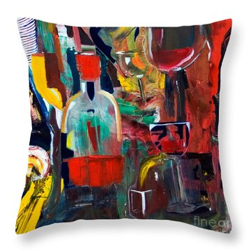 Cut IIi Wine Woman And Music Throw Pillow