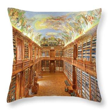 Czech Republic Prague, Strahov Throw Pillow