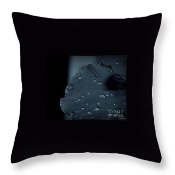 Feel The Rain Throw Pillow by Marija Djedovic