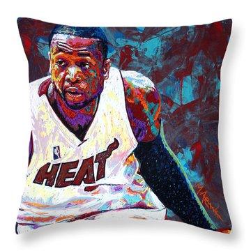 D. Wade Throw Pillow by Maria Arango