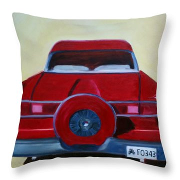 Dad's 58 Ford Throw Pillow