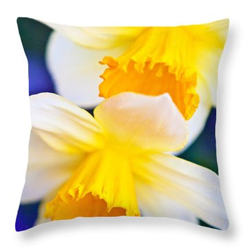 Throw Pillow featuring the photograph Daffodils by Roselynne Broussard