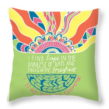 Dalai Lama Quote Throw Pillow by Susan Claire